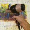 Хитрость работы с акварелью: сушка феном