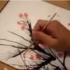 Как нарисовать цветущую сакуру. Техника выдувания