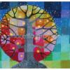Рисуем картину «Радужное Дерево» масляной пастелью в смешанной технике