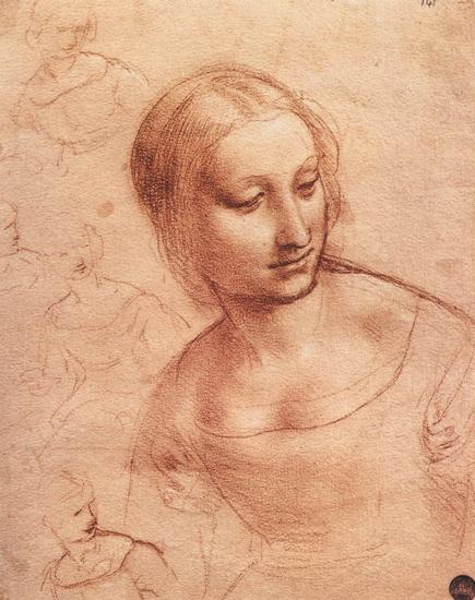 История появления простого карандаша. Наброски и рисунки Леонардо да Винчи