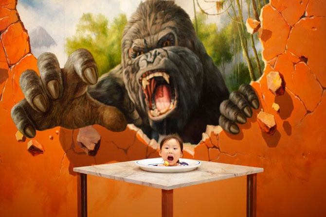 Выставка 3D живописи 2012 в Китае