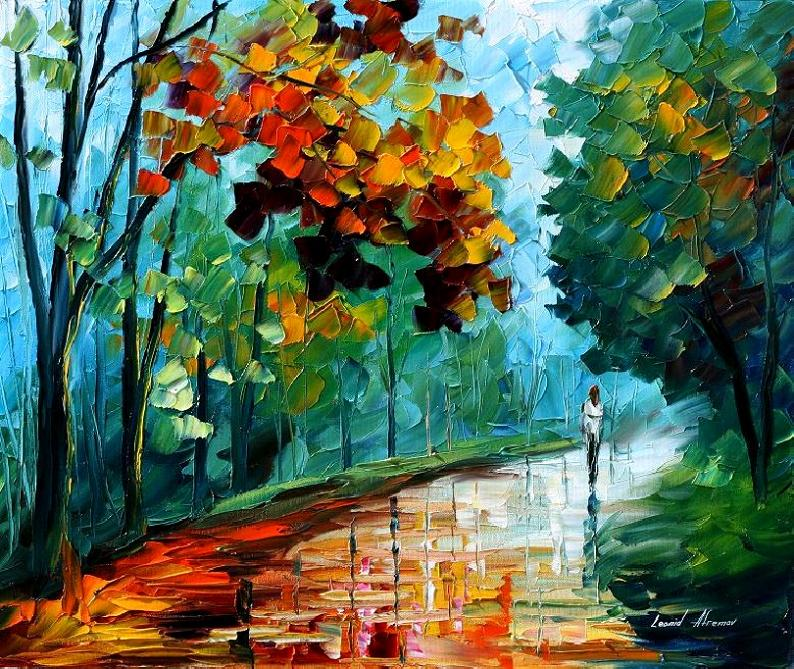 wet_path____leonid_afremov_by_leonidafremov-d2zbmme