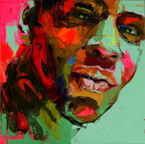 Ошеломляющая экспрессия в портретах маслом француженки Франсуазы Нилли