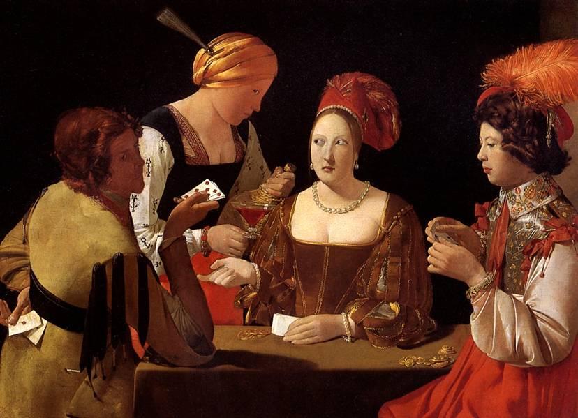 картина Шулер с бубновым тузом