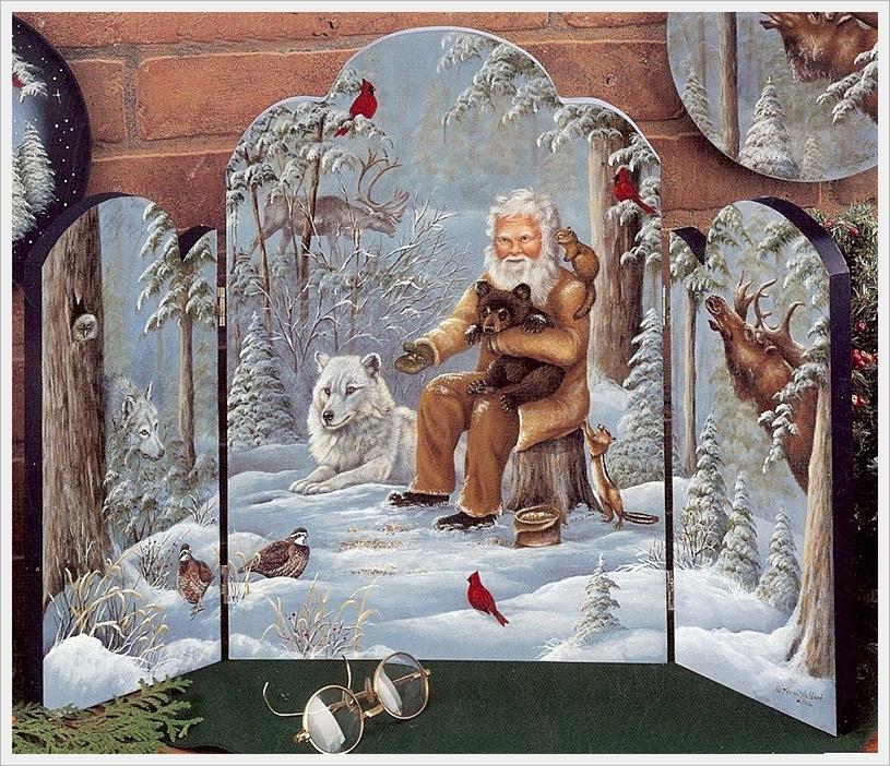 """Мастер-класс по росписи: """"Санта-Клаус и его друзья"""". Роспись шаг за шагом + шаблоны рисунков."""