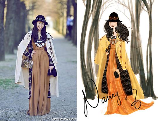 H & M платье, Topshop очки - Неделя моды в Париже dairies3 - Boho Chic.  - Нэнси Чжан LOOKBOOK