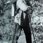 Поль Сезанн по дороге на этюды близ Овера. Фото ок. 1874 г.