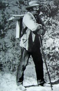 Поль Сезанн по дороге на Ñтюды близ Овера. Фото ок. 1874 г.