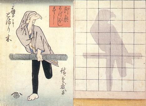 Японские теневые гравюры кage-e