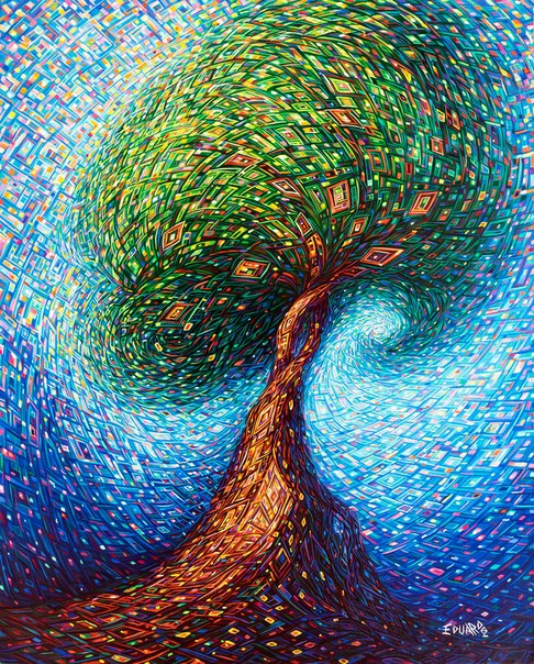 Гремучая мексиканская смесь от художника Eduardo Rodriguez Calzado, странное дерево
