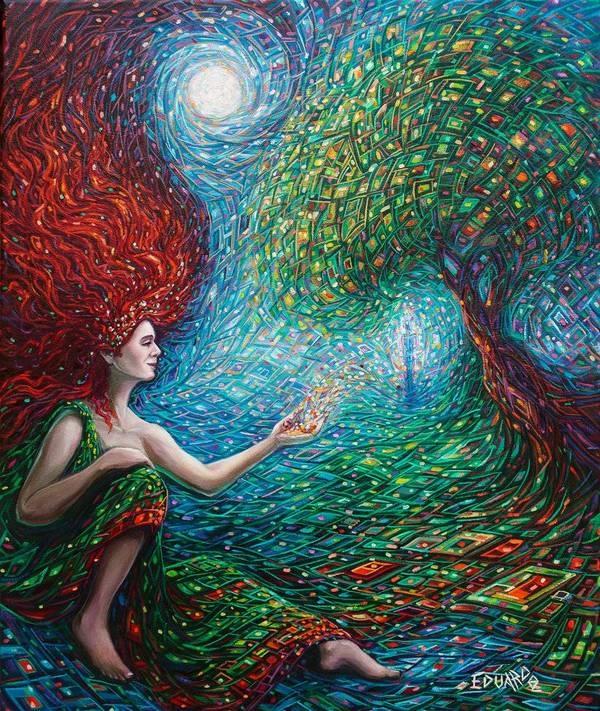 Eduardo Rodriguez Calzado женщина и дерево