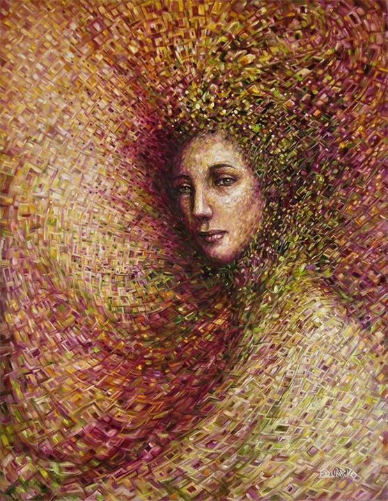 Eduardo Rodriguez Calzado нежный портрет женщины