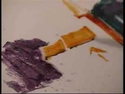 Как рисовать акварельными карандашами видеоурок