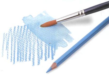 рисовать акварельными карандашами, карандаши цветные акварельные