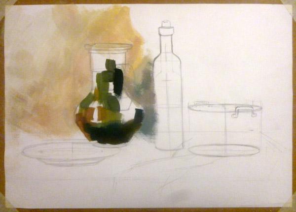 Как нарисовать натюрморт гуашью – предметы быта