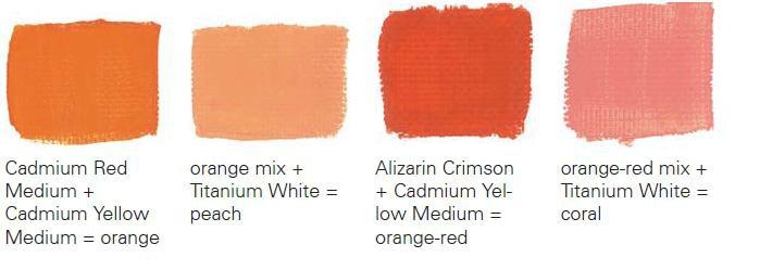 как получать новые тона из краски.
