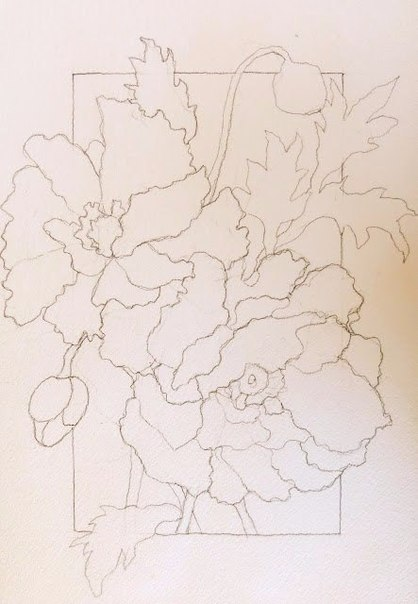 Рисуем маки акварелью фото #2