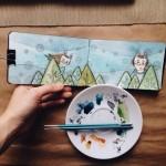 скетчбук художницы Татьяны Самошкиной