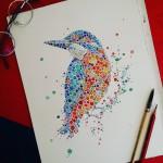 Серия анималистических акварельных иллюстраций Анны Еньшиной в интересной манере
