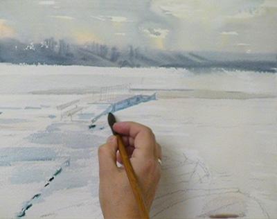Уроки рисования для взрослых пейзаж
