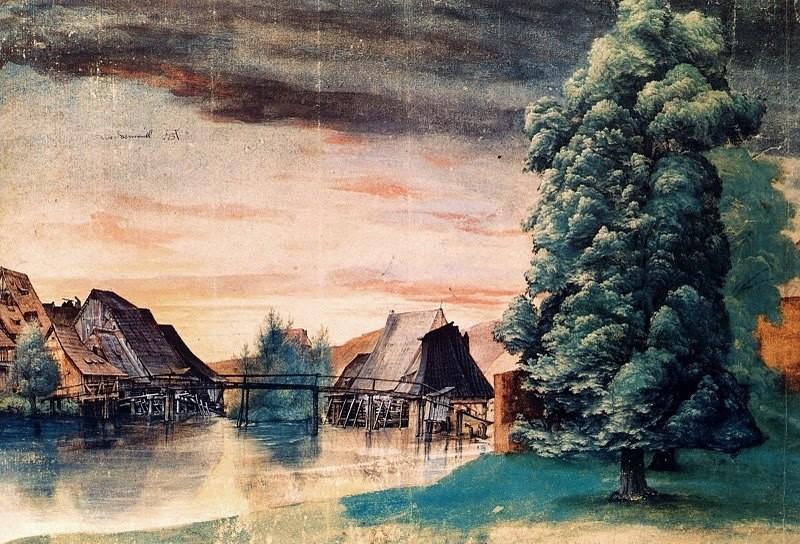 А.Дюрер. Водяная мельница на реке Пегниц.