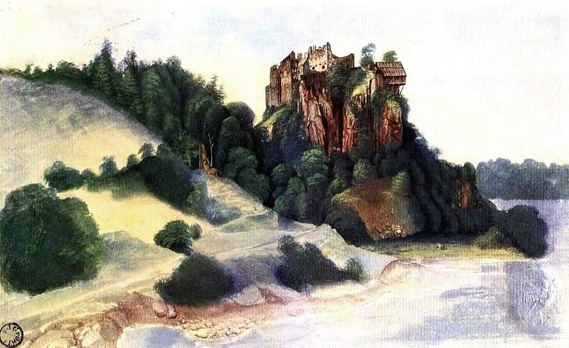 Акварель А.Дюрер. Замок в Альпах. 1495г.