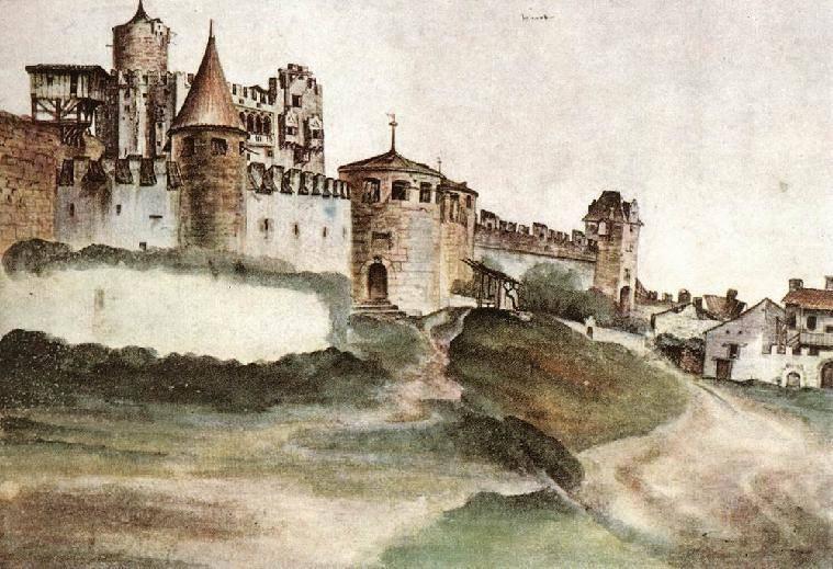 Акварели А.Дюрер. Замок в Тренто. 1495г..