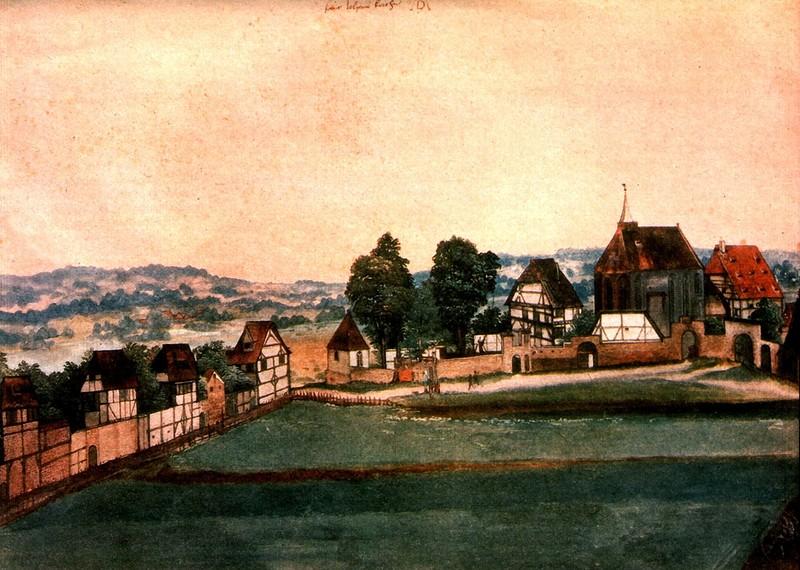 А.Дюрер. Йоханнесфридхоф в Нюрнберге. 1489г.