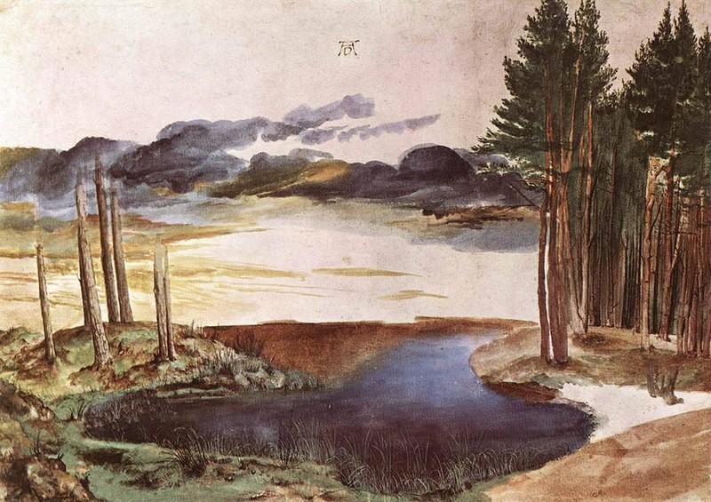 А.Дюрер. Пруд в лесу. 1496г.