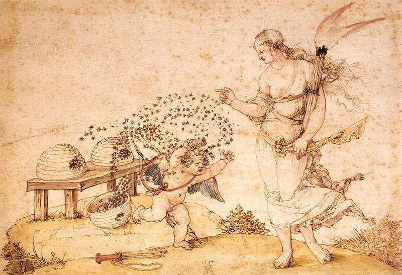 А.Дюрер. Купидон, крадущий мёд. http://risoval-ko.ru/