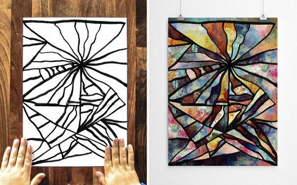 детские картины абстрактное искусство