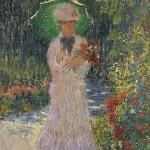 образ дамы с зонтиком Клода Моне