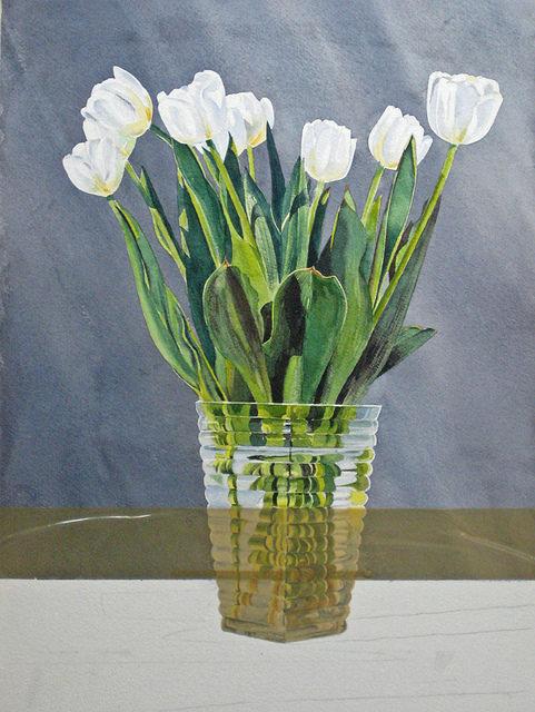 как рисовать акварелью цветы