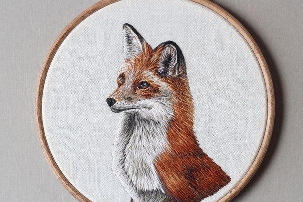 Вышитые портреты животных от Эмили Феррис