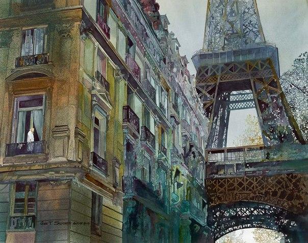 John Salminen, городской пейзаж