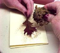 акварельные открытки из осенних листьев мастер-класс