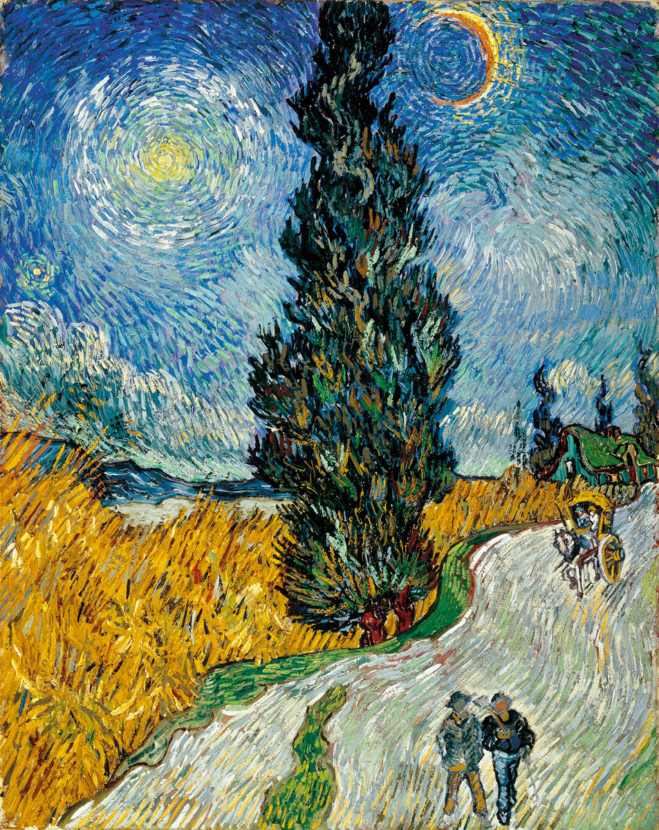 Рисуем тёплые тени холодный свет ван Гог