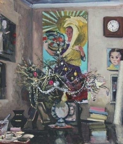 Шубина Галина Константиновна. Новогодний натюрморт. 1950