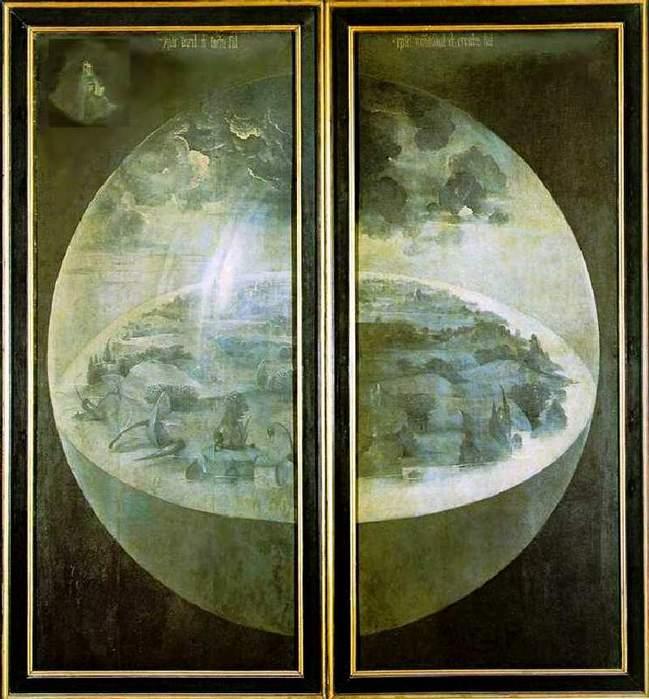 Hieronymus Bosch. Триптих «Сад земных наслаждений», лицевая сторона