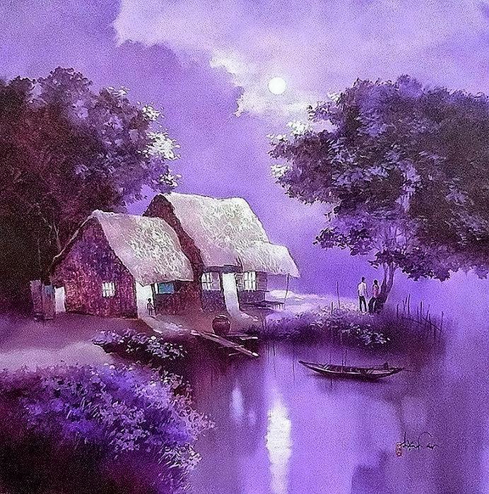водный пейзаж Вьетнамская живопись