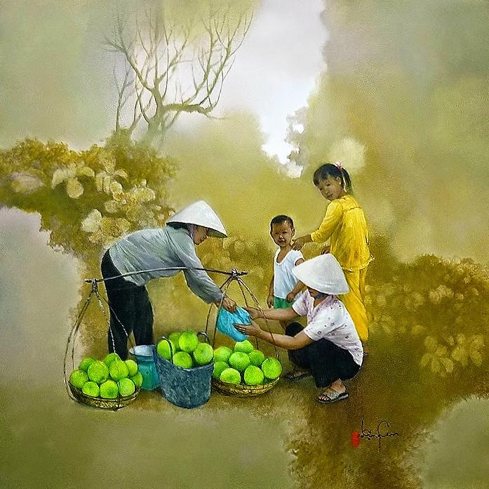идиллическая сельская жизнь Вьетнам