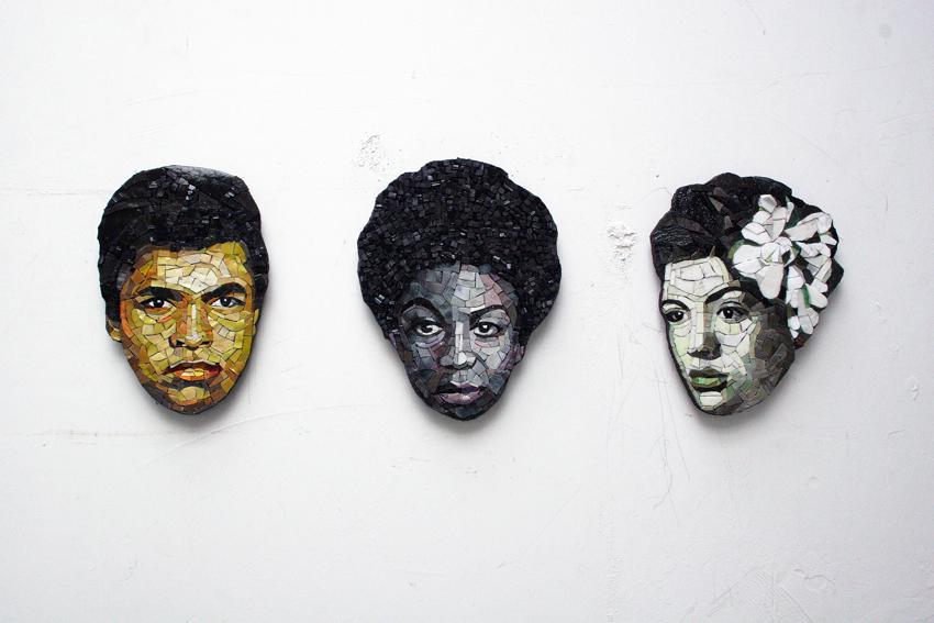 портреты из смальты Ruth Minola Scheibler