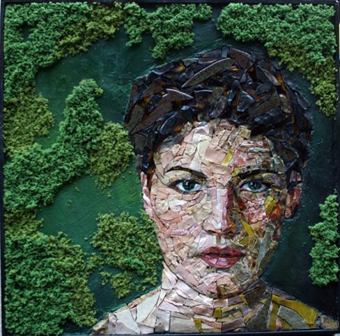 Как создаётся мозаичный портрет Ruth Minola Scheibler