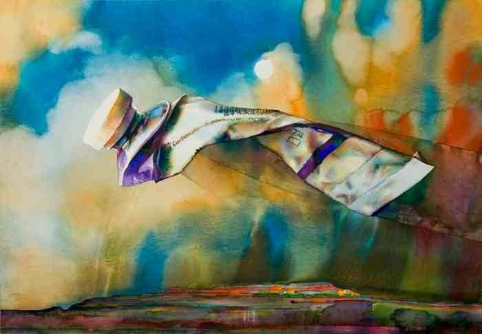 Brent Funderburk Брент Франдербурк нарисовал тюбик краски