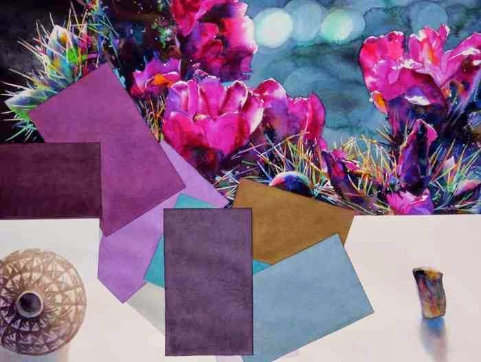 абстракционизм с кактусами на картине Brent Funderburk