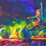 галюциногенная танцовщица на картине Brent Funderburk
