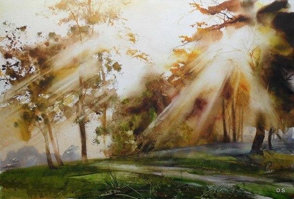 солнечный свет на пейзажах Ильи Ибряева