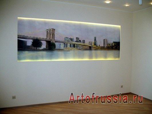 отличная современная фреска в офисе