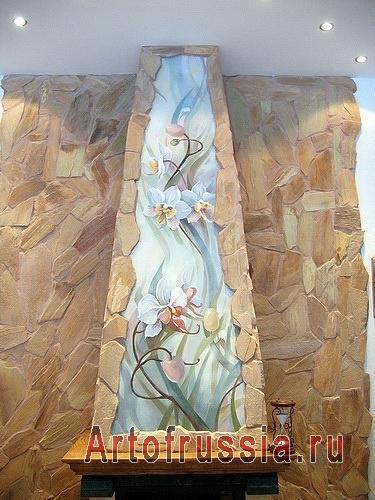 картина маслом на стене вшитая в интерьер