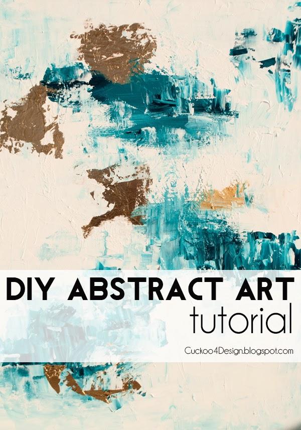 DIY рисуем настоящую абстрактную живопись